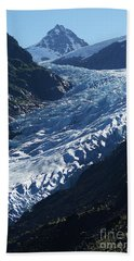 Beach Towel featuring the photograph Bear Glacier by Stanza Widen