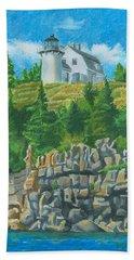 Bear Island Lighthouse Beach Towel
