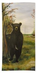 Beach Towel featuring the painting Bear Necessity by Laurie Lundquist