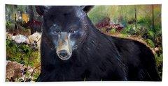 Bear Painting - Blackberry Patch - Wildlife Beach Towel