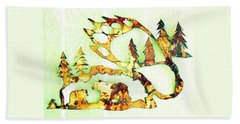 Bear Track 8 Beach Towel by Larry Campbell