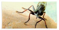 Bearded Robber Fly Beach Towel