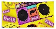 Beat It Beach Towel by Mo T
