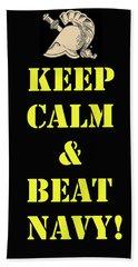 Beat Navy Beach Towel