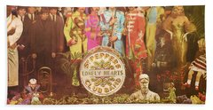 Beatles Lonely Hearts Club Band Beach Towel