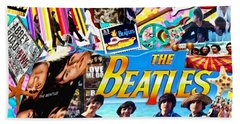Beatles For Summer Beach Towel by Mo T