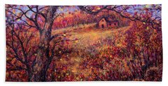 Beach Towel featuring the painting Beautiful Autumn by Natalie Holland