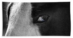 Beautiful Blind Soul Horse Beach Towel by Peggy Franz