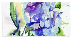 Beautiful Blue Flowers Beach Towel