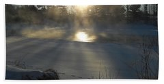 Beautiful Brisk Morning Beach Towel by Kent Lorentzen