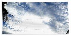 Beautiful Cloudy Morning Beach Sheet by Belinda Lee