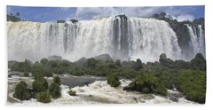 Beautiful Iguazu Waterfalls  Beach Towel