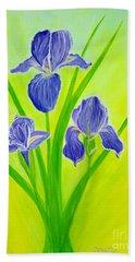 Beautiful Iris Flowersinspirations Collection..  Beach Sheet