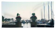 Beach Sheet featuring the photograph Beautiful Marina Entrance by Kay Novy
