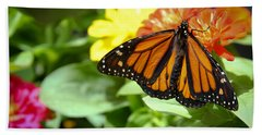 Beautiful Monarch Butterfly Beach Towel by Patrice Zinck