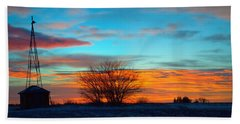 Beautiful Mornin' Panorama Beach Towel by Bonfire Photography