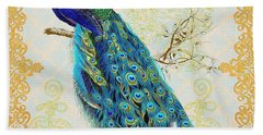 Beautiful Peacock-b Beach Towel