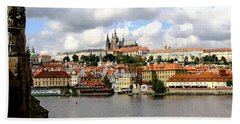 Beach Towel featuring the photograph Beautiful Prague by Ira Shander