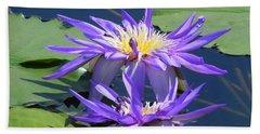 Beach Sheet featuring the photograph Beautiful Purple Lilies by Chrisann Ellis