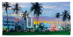 Miami Skyline Beach Towels