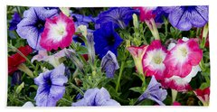 Beach Sheet featuring the photograph Beautiful Summer Annuals by Wilma  Birdwell