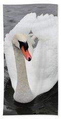 Beach Towel featuring the photograph Beautiful Swan by Tiffany Erdman