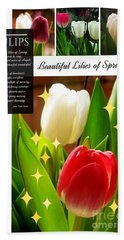Beautiful Tulip Series 1 Beach Sheet