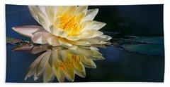 Beautiful Water Lily Reflection Beach Sheet