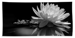 Beautiful Water Lily Reflections Beach Towel