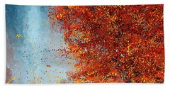 Beauty Of It- Autumn Impressionism Beach Towel