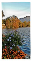 Beauty Of Lake Lugano Beach Towel