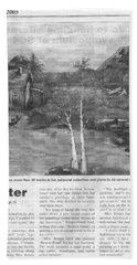 Beaver Pond - Article - Mary Krupa Beach Towel by Bernadette Krupa
