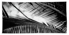 Beach Towel featuring the photograph Maui Paradise Palms Hawaii Monochrome by Sharon Mau
