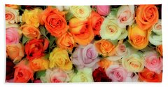 Bed Of Roses Beach Towel