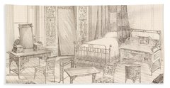Bedchamber Furniture In The Japanese Beach Towel