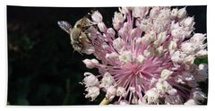 Bee And Allium Beach Towel