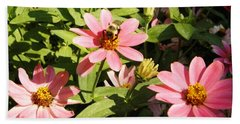 Bee At Work Beach Towel by Mary Carol Williams