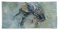 Beach Towel featuring the mixed media Bee Bumble by Phyllis Howard
