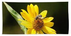 Bee Flower Beach Sheet