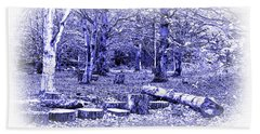 Beach Sheet featuring the photograph Beech Woods by Jane McIlroy