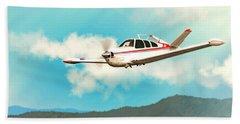 Beechcraft Bonanza V Tail Red Beach Towel