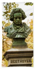 Beethoven In Central Park Beach Towel by Alice Gipson