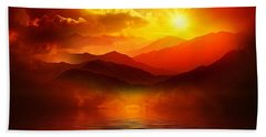 Before The Sun Goes To Sleep Beach Towel by Gabriella Weninger - David