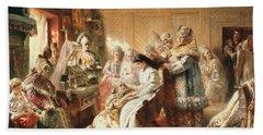Before The Wedding, 1890 Oil On Canvas Beach Towel