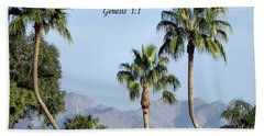 Beach Towel featuring the photograph Beginning by Deb Halloran