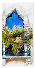 Beach Towel featuring the painting Bei Fiori by Greg Collins