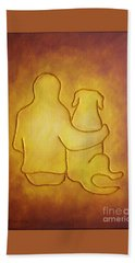 Being There 2 - Dog And Friend Beach Towel