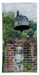 Bell Brick And Statue Beach Towel