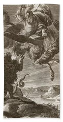 Bellerophon Fights The Chimaera, 1731 Beach Towel by Bernard Picart