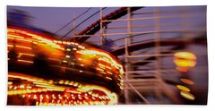 Did I Dream It Belmont Park Rollercoaster Beach Sheet